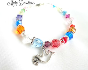 Everlasting Covenant Crystal and Silver Bracelet