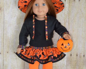 Trendy Witch Costume for 18 Inch Dolls (Fits American Girl and Similar Size Dolls)