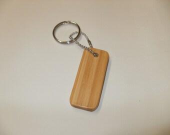 bamboo  key chain  simple scroll saw