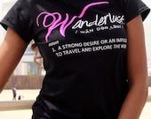Wanderlust Definition Black Shirt - The Love of Traveling