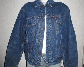 vintage 1960s LEVI'S Big E jacket  indian blanket indigo blue size large