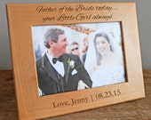 Personalized Father of the Bride Picture Frame: Father of the Bride Gift, Custom Father of the Bride Gift, Gift for Bride's Dad, SHIPS FAST