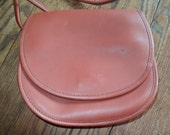 Vintage Coach Cross Body Purse in an Amber Brown Leather, Saddle Style Purse in Great Condition which was never used