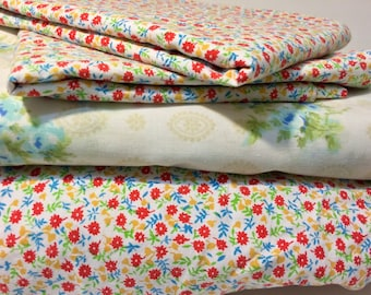 Vintage Remixed Percale Full Sheet Set - Double Sheet Set - Vintage Sheet Set