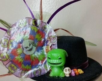 Oogie's Halloween Wheel of Misfortune Mini Top Hat Fascinator