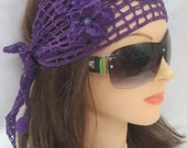 Purple Headband, Headband, Headbands, Summer Head bands, Summer Headband, Purple Headbands