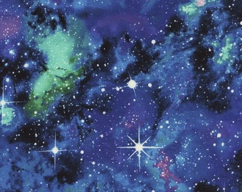 Etsy your place to buy and sell all things handmade for Timeless treasures space galaxy fabric