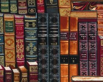 Timeless Treasures - Library Books Metallic