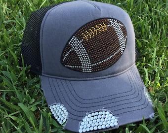 Football bling hat