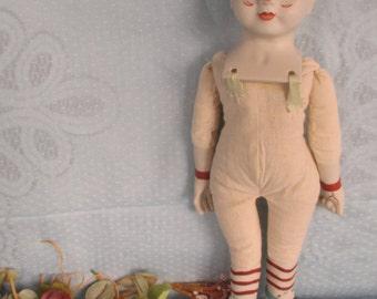 Clown doll porcelain doll by Mary Ann Oldenburg  1975 Milwaukee UFDC doll convention