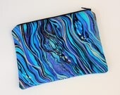 Peacock Swirls Cosmetics / Make up Bag