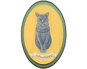 Custom Cat Portrait Painting for Christmas, Holiday or Hanukkah Gift