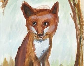 Fox Totem Original Painting