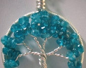 Blue Apatite Gemstone Tree of Life, Gemstone Tree of Life,
