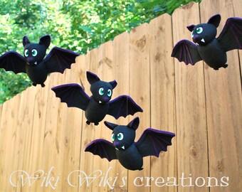 Cute Flying Plush Bats- Pack of 2