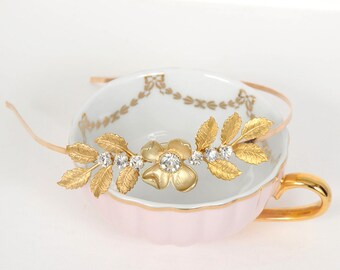 Gold Leaf Grecian Headband, Laurel Headpiece