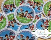 Paw Patrol Personalized Stickers
