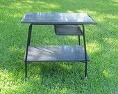 Mid Century Rolling Table Cart Bar Cart Kitchen Cart, Desk, Media Table