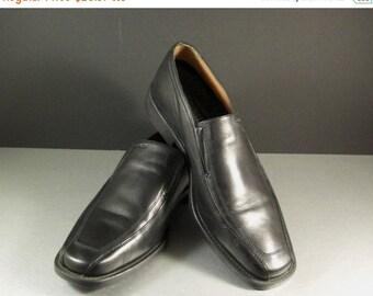 ON SALE Men's GEOX Black Dress Loafers Shoes Size 9.5 = 43.5 Eu