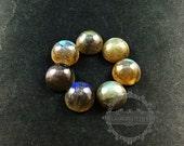 3pcs 10mm round labradorite cabochon semi precious loose stone gemstone DIY earrings rings pendant charm cabochon 4110114