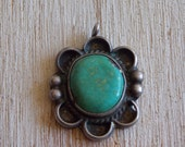 Sterling and Turquoise Navajo Southwest Style Pendant