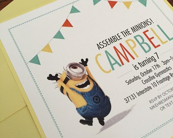 Despicable Me Minions Boys Birthday Invitation