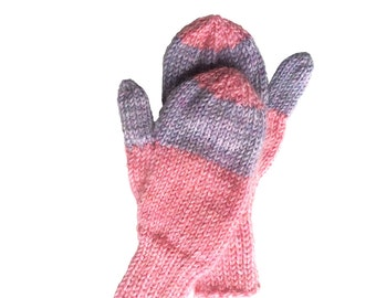 Mittens-Hand Knit, Hand Knit Children's Mittens, Girls-Boys Hand Knit Mittens, Pre-School Mittens, Seamless Knitted Mittens, Back to School