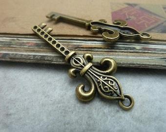 20pcs 18*48mm antique bronze   key charms pendant C7308