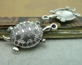 10pcs 18*34mm antique silver  tortoise animal charms pendant C5889