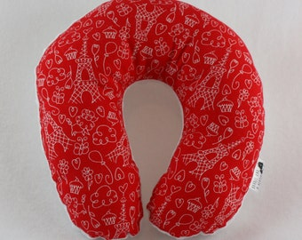 Paris Travel Neck Pillow for Children and Adults