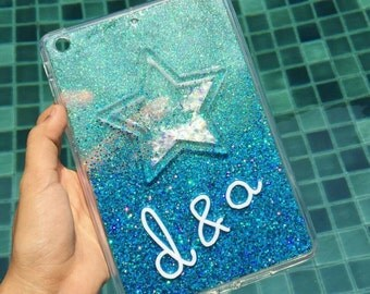 personalised shinning star ipad mini cover, ipad mini smart cover, ipad mini 2 case, ipad air 2 case, ipad mini glitter case,smart cover