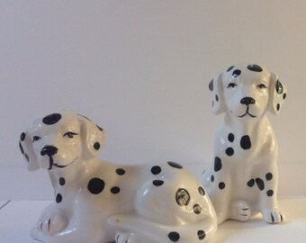 Dalmatian salt and pepper shakers