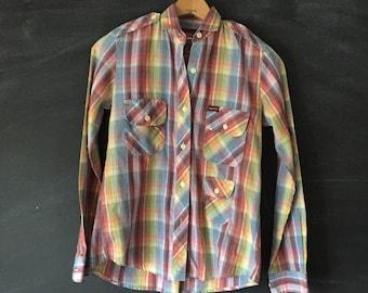 Vintage Sasson Plaid button down shirt