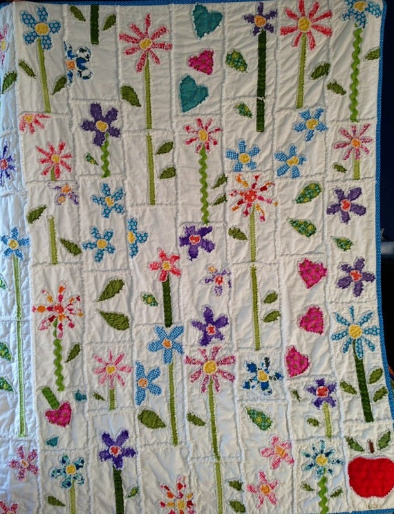 Rag Quilt Pattern For Beginners : PDF Pattern Make A Rag Quilt PATTERN With Appliques by Snipitup