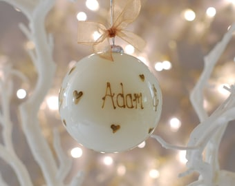 Personalised Christmas Bauble, Christmas Bauble, Christmas Decoration, Hand Painted Bauble, Personalised Christmas Tree Decoration
