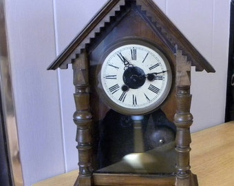 Antique Clock  - Cottage Clock - Early 1900's Clock
