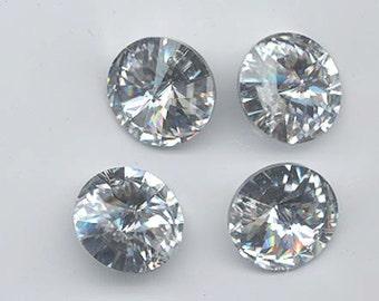 Wow - two rare and dazzling vintage Swarovski crystal rivoli pendants - art 6204 - crystal comet argent light - 18 mm
