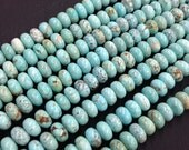 Vintage Natural Turquoise Rondelle Beads