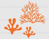 Ocean Wall Decal - Coral | Perfect for Under the Sea or Ocean Theme | Baby Nursery, Children's Room Interior Design | 514