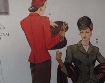 Vogue 2885 - Original 1944 Design - Jacket, skirt - Size 6, 8, 10 - Uncut pattern