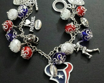 Houston Texans Beaded Bracelet