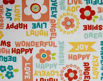 BTHY Adornit Owls Wordplay Cuddle Juicy Fruit Minky Owl Fabric Yardage by Shannon Fabric