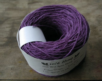 Grape Hand Dyed 10/6 Hemp Yarn