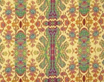 Mulberry, Green and Maize Batik Ikat Pillow Covers in Tracey Porter Poetic Wanderlust Fabric