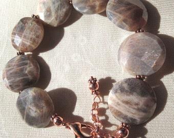 Golden Sunstone Bracelet with Copper