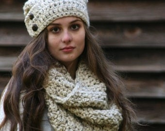 Hat and Scarf Set The Dartmoor Beanie and The Leconte Cowl Scarf Choose Your Color