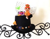 Lalaloopsy Mini TopHat..All Ages,Lalaloopsy Mini Pumpkin Candle Light,Halloween Hat, Photo Prop, Halloween Table Centerpiece,Halloween Decor