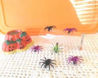 Set of 2 Glitter Spider Clips..ALL AGES, Infants,Toddlers,Big Girls, Adults, American Doll, Pets...Halloween,Party Favors, Dog Pet Accessory
