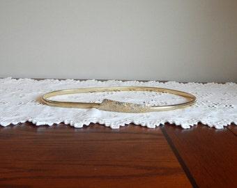 Vintage Gold Belt  Slim Stretch Serpentine Belt Women's Belt Medium