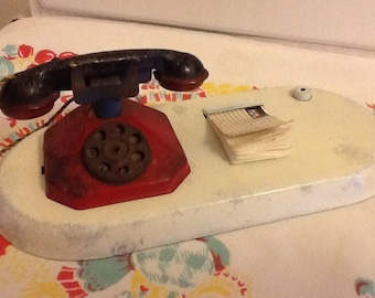 Toy Telephone Note Pad Display